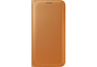 SAMSUNG Flip Wallet Galaxy S6 Edge PU Leather Orange - (EF-WG925POEGWW)
