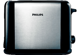 PHILIPS HD2586/20 Daily Collection Toaster Silber metallic/Schwarz (900 Watt, Schlitze: 2)