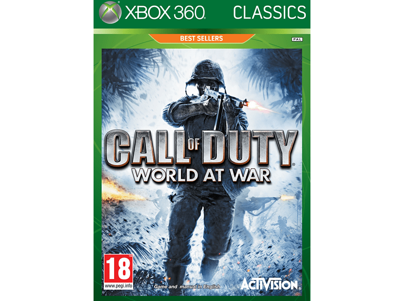 Call of Duty: World at War Classic Xbox 360 gaming games xbox 360 games