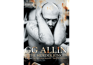 Gg Allin & The Murder Junkies - Raw, Brutal, Rough & Bloody - Best Of 1991 Live - (DVD)