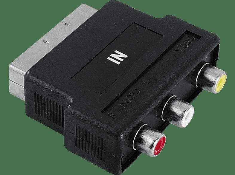 HAMA Video Adapter, 3 RCA sockets (video/audio L a. R) - Scart plug - (122241) τηλεόραση   ψυχαγωγία μην ξεχάσεις καλώδια ήχου  εικόνας
