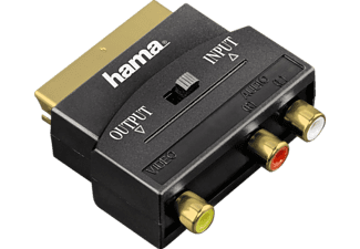 HAMA Audio/Video Adapter, 3 RCA sockets - Scart plug, gold-plated - (123364)