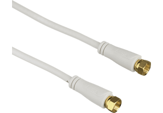 HAMA SAT Connection Cable, F plug - F plug, gold-plated, 1.5 m, 90 dB - (123270)