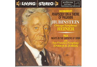 Arthur Rubinstein, San Francisco Symphony Orchestra, Symphony Of The Air, Chicago Symphony Orchestra - Rhapsody On A Theme Of Paganini - Nights In The Gardens Of Spain - Andante Spianato & Grande - (CD)