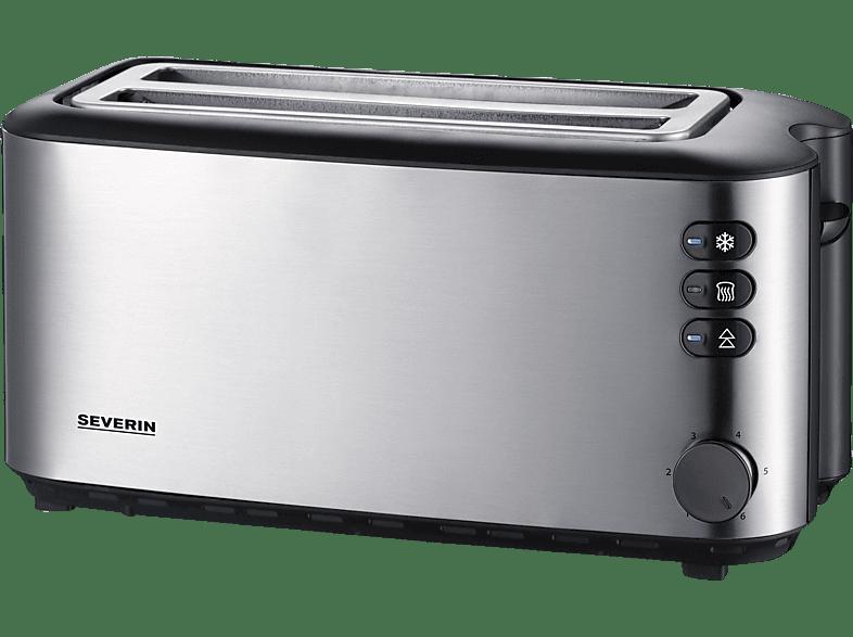 Toaster  SEVERIN Toaster AT2509 Edelstahl gebürstet/Schwarz - MediaMarkt