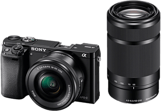 SONY ALPHA ILCE-6000 + 16-50 mm + 55-210 mm fekete kit
