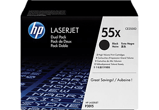 HP 55X Black Dual Pack - (CE255XD)