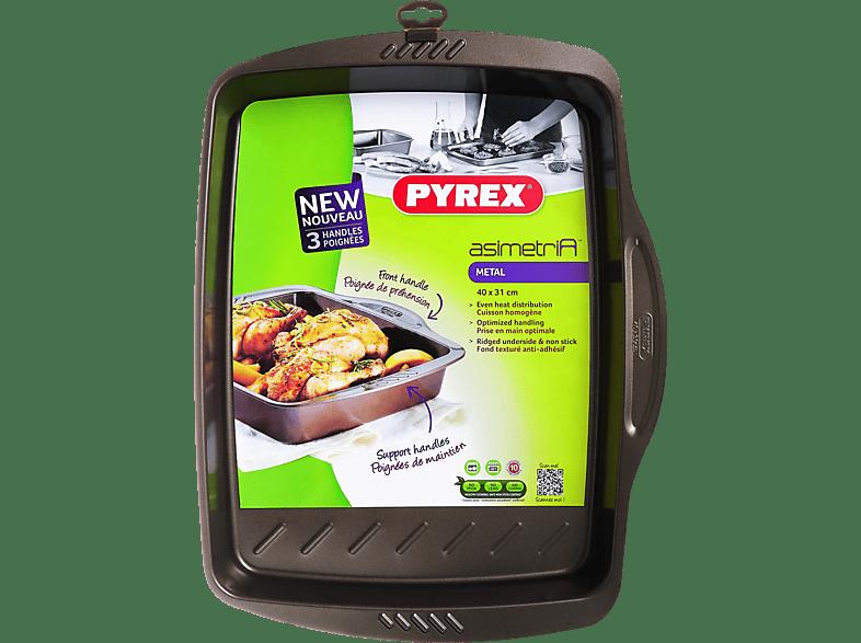 PYREX Asimetria Αντικολλητικό ορθογώνιο ταψί 40x31 cm - (322003) μικροσυσκευές   φροντίδα σκεύη κουζίνας ταψιά  φόρμες