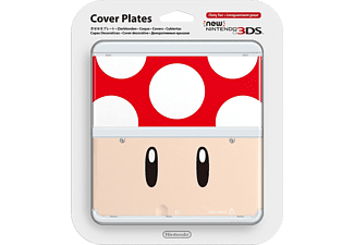 NINTENDO New 3DS Cover Plate - Red Mushroom