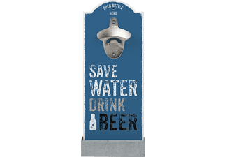 CONTENTO 866354 Save water drink Beer Wandflaschenöffner