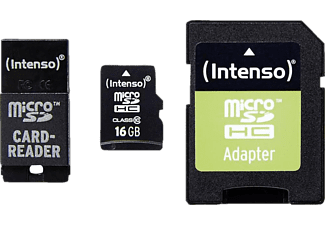 INTENSO Εκθεσιακό Προϊόν Micro SD Card Class 10 incl. SD + USB adaptor 16GB - (3413770)