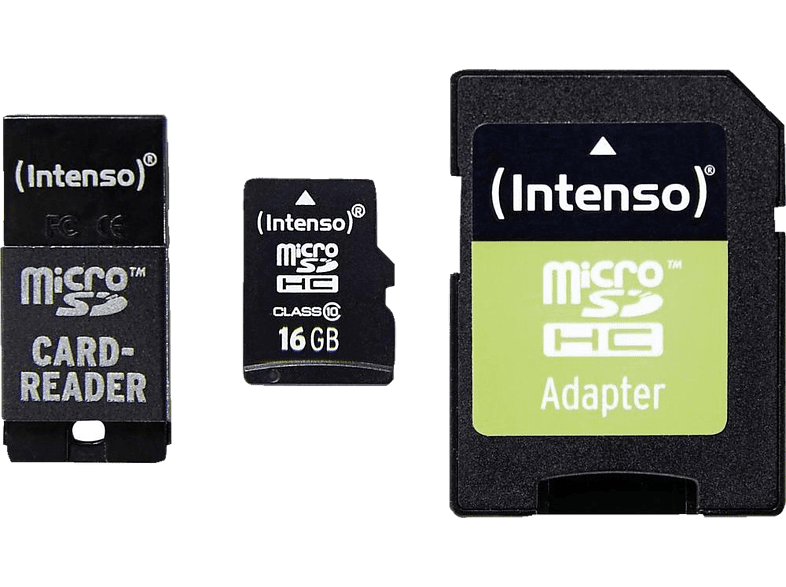 INTENSO Εκθεσιακό Προϊόν Micro SD Card Class 10 incl. SD / USB adaptor 16GB - (3 laptop  tablet  computing  tablet   ipad κάρτες μνήμης computing   tablets   off