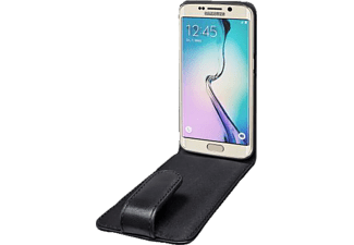 ARTWIZZ SeeJacket® Leather Flip Galaxy S6 edge Handyhülle, Schwarz