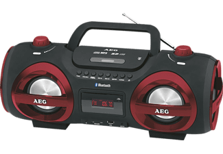 AEG. SR 4359, CD Player, Schwarz/Rot