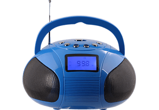 AUGUST INTERNATIONAL SE20 TRAGBARE BOOMBOX, Boombox, Ausgangsleistung 2x 3 Watt, Blau