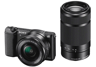 SONY Alpha 5100 Noir + 16-50mm + 55-210mm (ILCE5100YB)
