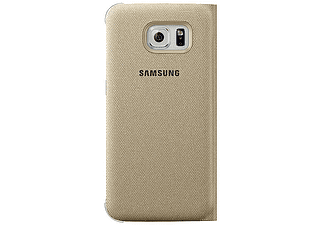 SAMSUNG S6 edge Flip Wallet Canvas Goud