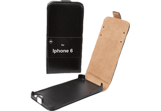 V-DESIGN DV-007, Flip Cover, iPhone 6, iPhone 6s, Schwarz