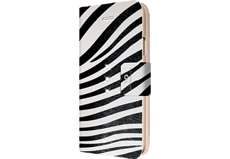 WHITE DIAMONDS Crystal, Apple, Bookcover, iPhone 6, iPhone 6s, Kunststoff/Material-Mix/Polyurethan (PU), Zebra