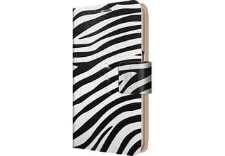 WHITE DIAMONDS Crystal Safari Edition, Samsung, Bookcover, Galaxy S6, Kunststoff/Material-Mix/Polyurethan (PU), Zebra