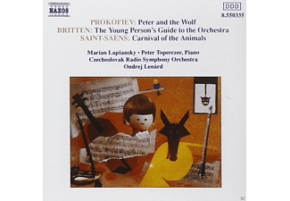 Marian Lapsansky, Ondrej Lenard, Piano Czechoslovak Radio Symphony Orchestra, Peter Toperczer - Peter And The Wolf / The Young Person's Guide To The Orchestra / Carnival Of The Animals - (CD)
