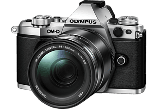 OLYMPUS OM-D E-M5 Mark II Systemkamera 16.1 Megapixel mit Objektiv 14-150 mm f/4-5.6, 7.6 cm Display   Touchscreen, WLAN