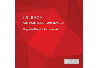 Huguette Dreyfus - Six Partitas BWV 825-830 - (CD)