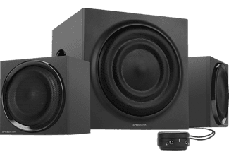 speedlink quanum 2 1 subwoofer system black pc lautsprecher g nstig bei saturn bestellen. Black Bedroom Furniture Sets. Home Design Ideas