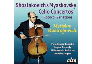 Mstislav Rostropovich, The Philadelphia Orchestra, Leningrad Philharmonic, The Philharmonia Orchestra - Cello-Konzert 1/Cello-Konzert/Rokoko-Variat. [CD]