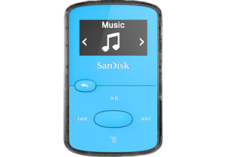 SANDISK SanDisk Clip Jam, MP3-Player, 8 GB, Akkulaufzeit: 18 Std., Blau