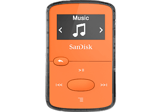 SANDISK SanDisk Clip Jam, MP3-Player, 8 GB, Akkulaufzeit: 18 Std., Orange