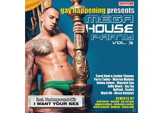 VARIOUS - Gay Happening Pres.Mega House Party 3 - (CD)