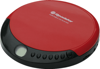 ROADSTAR PCD 435CD Portable CD-Player Rot