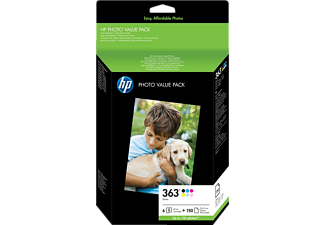 HP 363 Series Photo Value Pack  Noir - Cyan - Magenta - Jaune (Q7966EE#301)