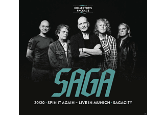 Saga - Collector's Package-20/20/Spin It Again Live/ - (CD)