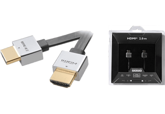 VIVANCO S&I HDMI Ultra Thin Flat med Ethernet A-A hane 2 m