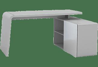 MAJA 9510 Schreib  Und Computertisch, Schreib  Und Computertisch,  Platingrau   Glas Platingrau