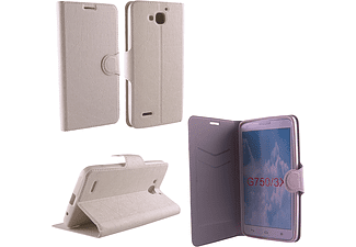 VOLTE-TEL Θήκη HUAWEI ASCEND G750 Line Leather-Tpu Book Stand White  - (5205308131202)