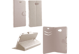 VOLTE-TEL Θήκη SONY XPERIA M2 D2303 Line Leather-Tpu Book Stand White  - (5205308132964)