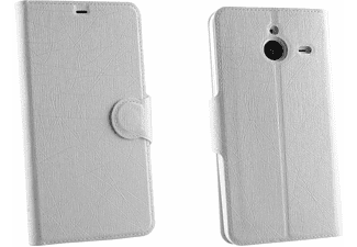 VOLTE-TEL Θήκη Microsoft Lumia 640 XL Line Leather-Tpu Book Stand White  - (5205308146015)