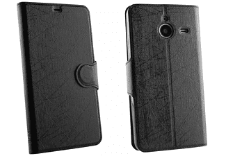 VOLTE-TEL Θήκη Microsoft Lumia 640 XL Line Leather-Tpu Book Stand Black  - (5205308146008)