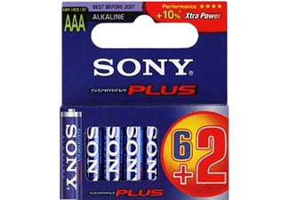 SONY AM4M6X2D Alkalin Plus AAA 6+2 Blister Ambalaj