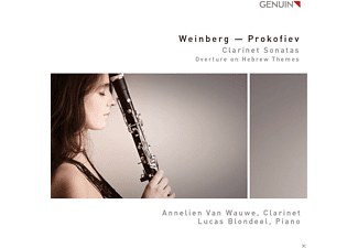 Annelien  Van Wauwe, Lucas Blondeel - Klarinetten-Sonaten/Overture On Hebrew Themes - (CD)