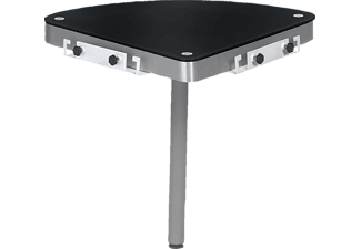 maja eckverbindung 5002 metall alu glas schwarzglas f r. Black Bedroom Furniture Sets. Home Design Ideas