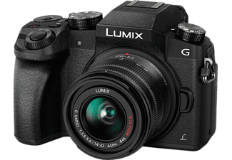PANASONIC Lumix DMC-G7 Black + Φακός 14-42mm - (DMC-G7HEG-K)