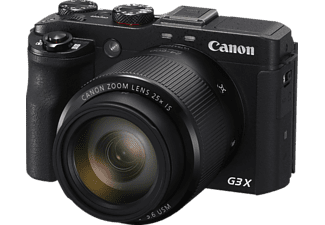 CANON PowerShot G3 X Digitalkamera, 20.2 Megapixel, 25x opt. Zoom, CMOS Sensor, Near Field Communication, WLAN, 24-600 mm Brennweite, Autofokus, Touchscreen, Schwarz