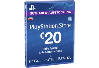 PlayStation 4, PlayStation 3, PlayStation Vita,  PlayStation Portable PlayStationStore Guthaben-Aufstockung 20 € [PS4, PS3, PS Vita PSN Code - österreichisches Konto]