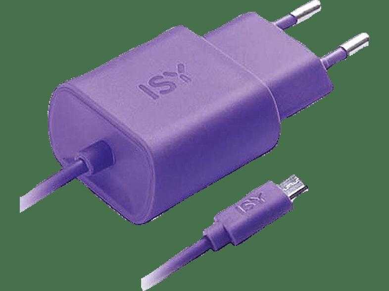ISY Travel Charger with Micro USB 1.2A Purple - IWC 3000 PE τηλεφωνία   πλοήγηση   offline αξεσουάρ κινητής smartphones   smartliving αξεσου