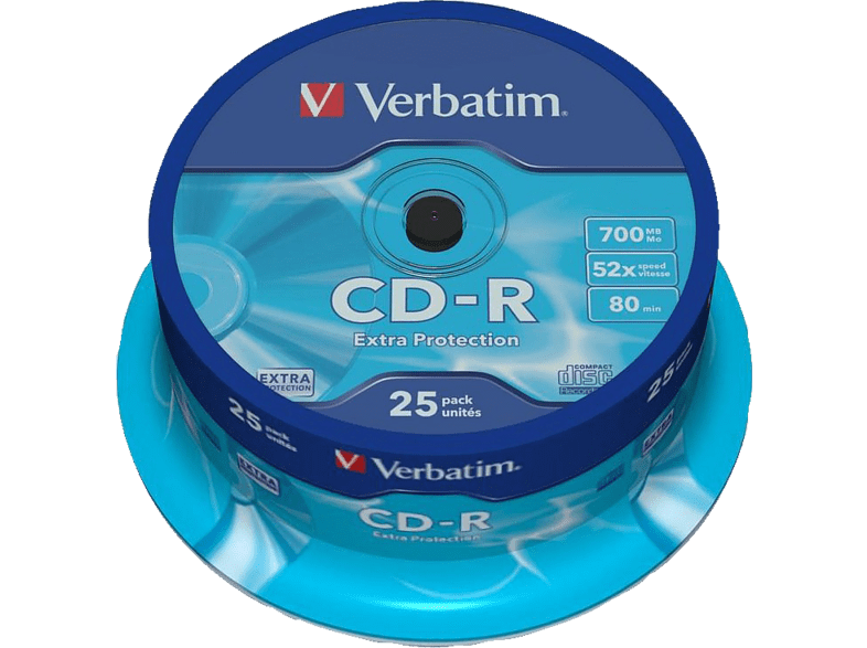 VERBATIM CD-R Extra Protection 25τεμ.- (43432) αξεσουάρ αποθήκευση δεδομένων cd   dvd   blu ray laptop  tablet  computing  αποθ