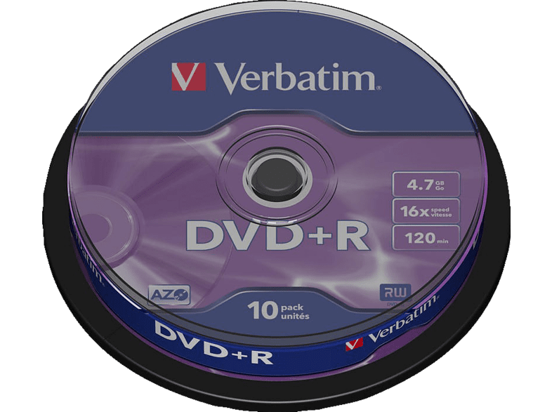 VERBATIM DVD R Matt Silver 10τεμ. - (43498) αξεσουάρ αποθήκευση δεδομένων cd   dvd   blu ray laptop  tablet  computing  αποθ